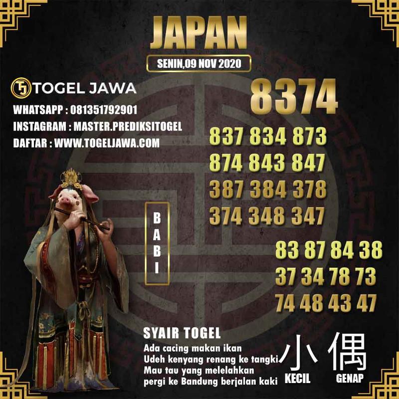 Prediksi Japan Tanggal 2020-11-09