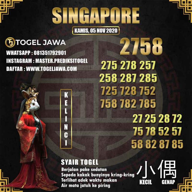 Prediksi Singapore Tanggal 2020-11-05