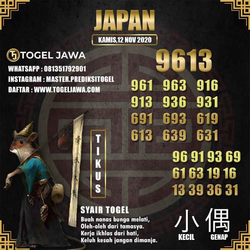 Prediksi Japan Tanggal 2020-11-12