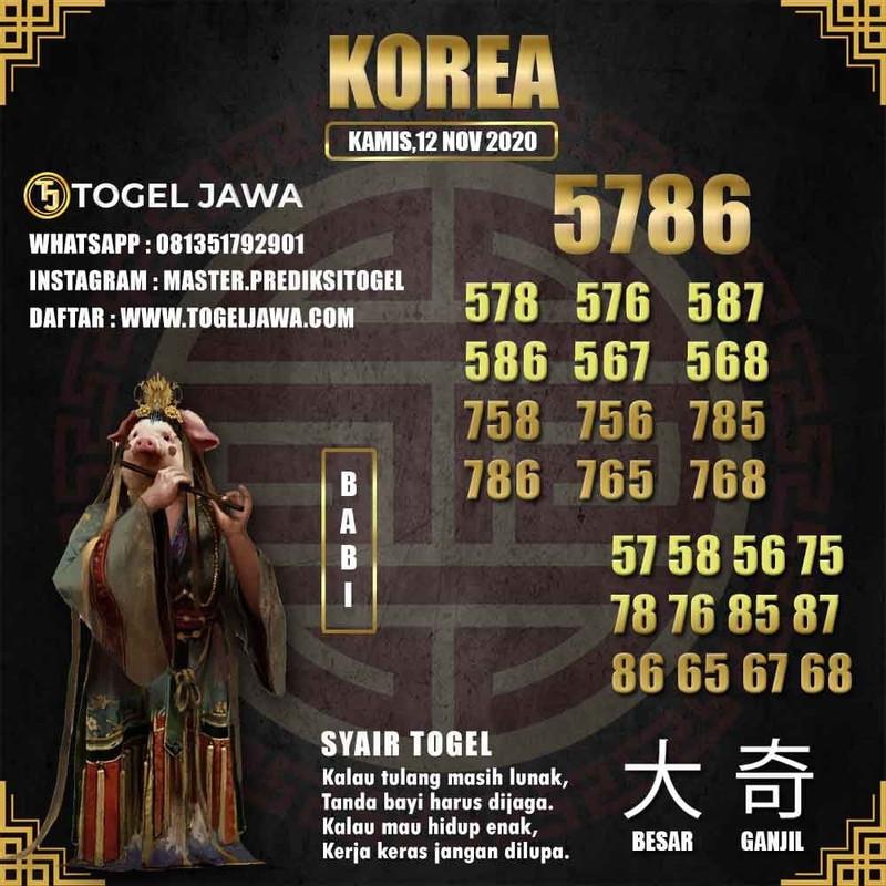 Prediksi Korea Tanggal 2020-11-12