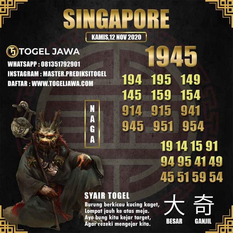 Prediksi Singapore Tanggal 2020-11-12