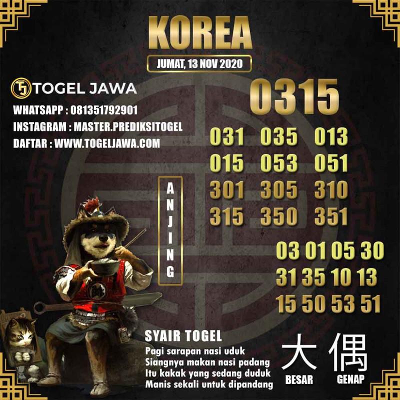 Prediksi Korea Tanggal 2020-11-13