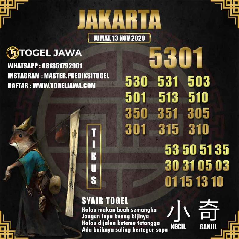 Prediksi Jakarta Tanggal 2020-11-13