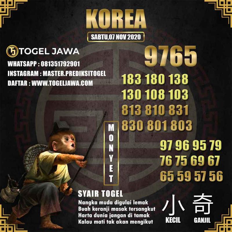 Prediksi Korea Tanggal 2020-11-07