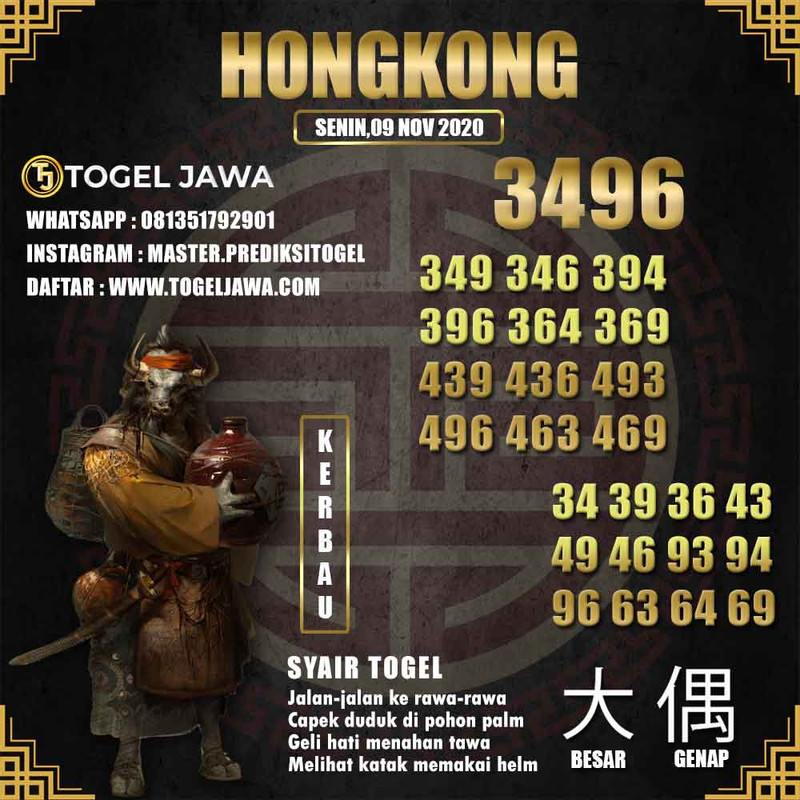 Prediksi Hongkong Tanggal 2020-11-09