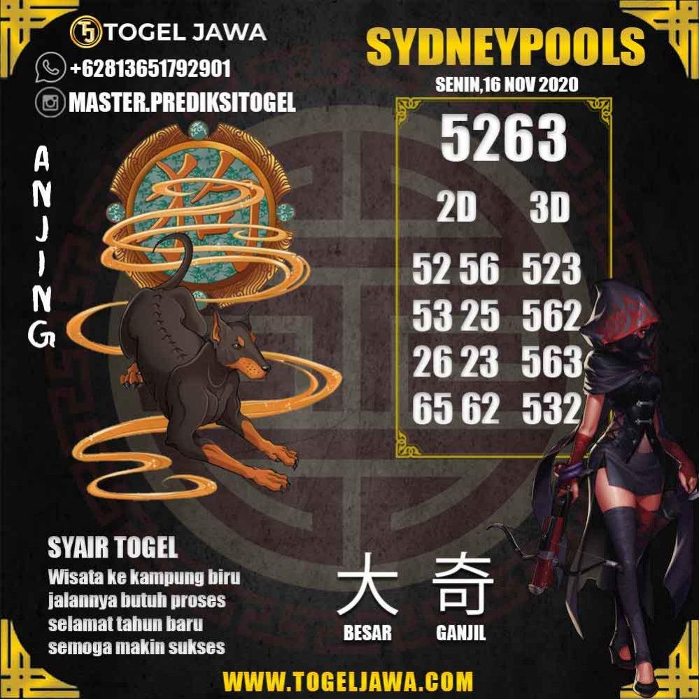Prediksi Sydney Tanggal 2020-11-16