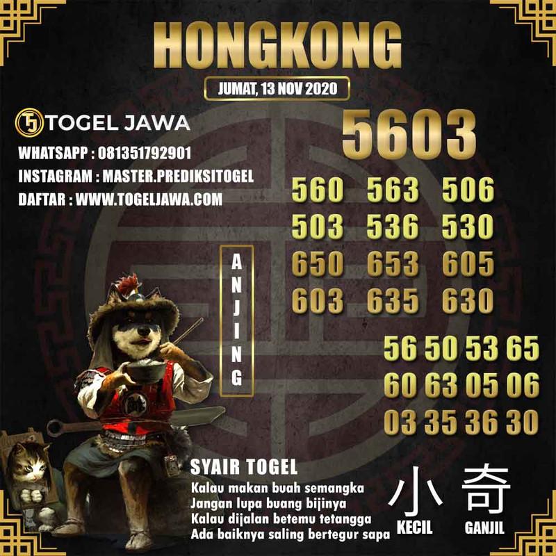 Prediksi Hongkong Tanggal 2020-11-13