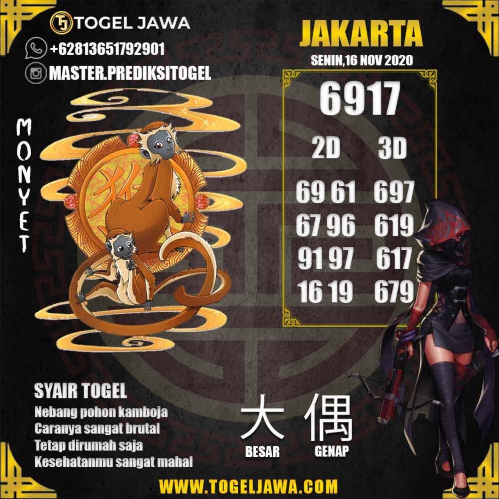 Prediksi Jakarta Tanggal 2020-11-16