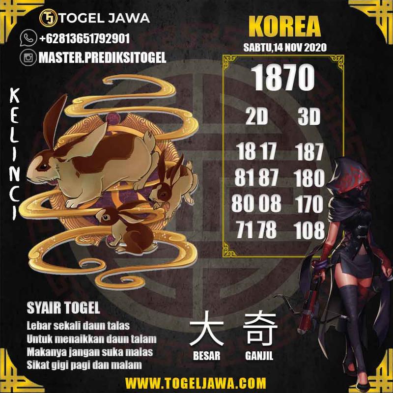 Prediksi Korea Tanggal 2020-11-14