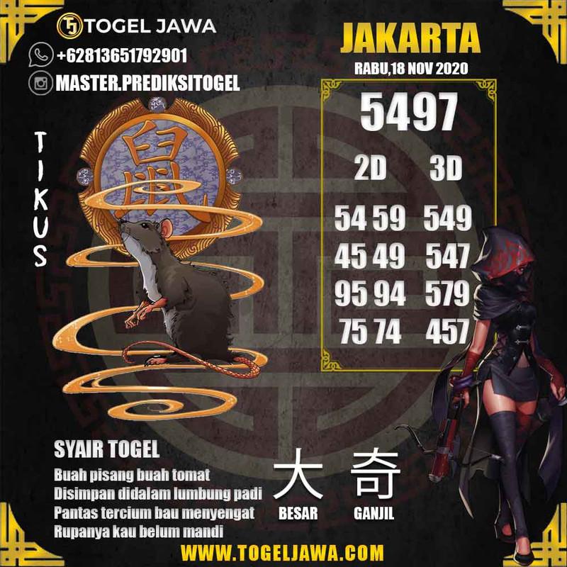 Prediksi Jakarta Tanggal 2020-11-18