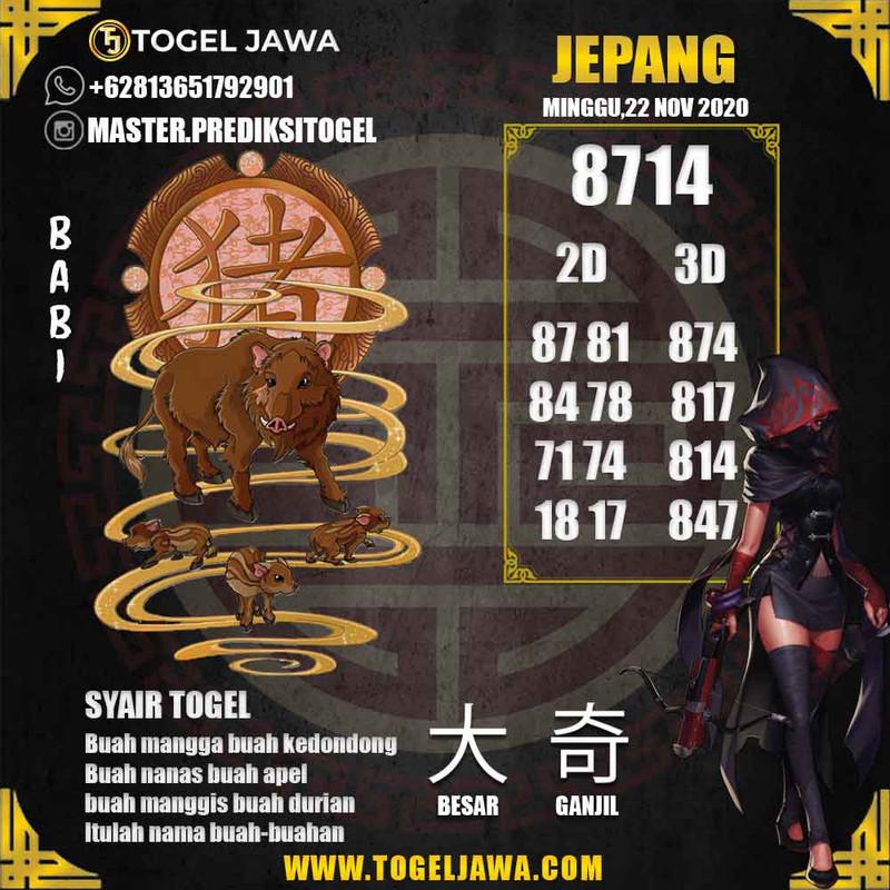 Prediksi Japan Tanggal 2020-11-22