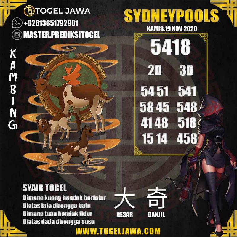 Prediksi Sydney Tanggal 2020-11-19