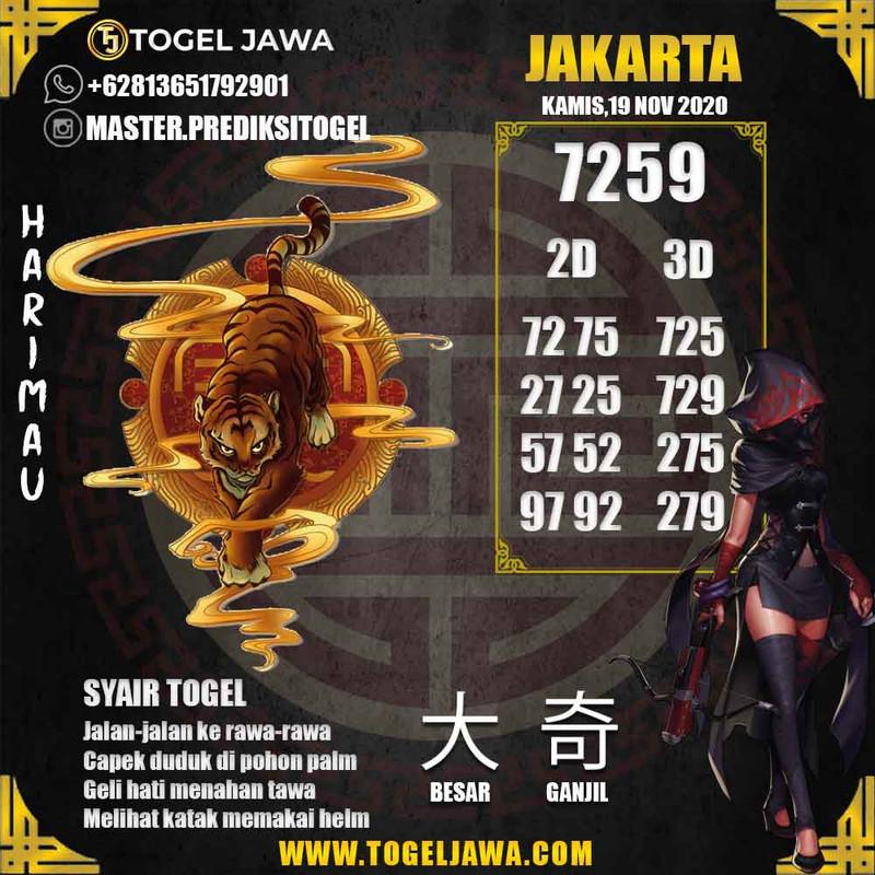 Prediksi Jakarta Tanggal 2020-11-19