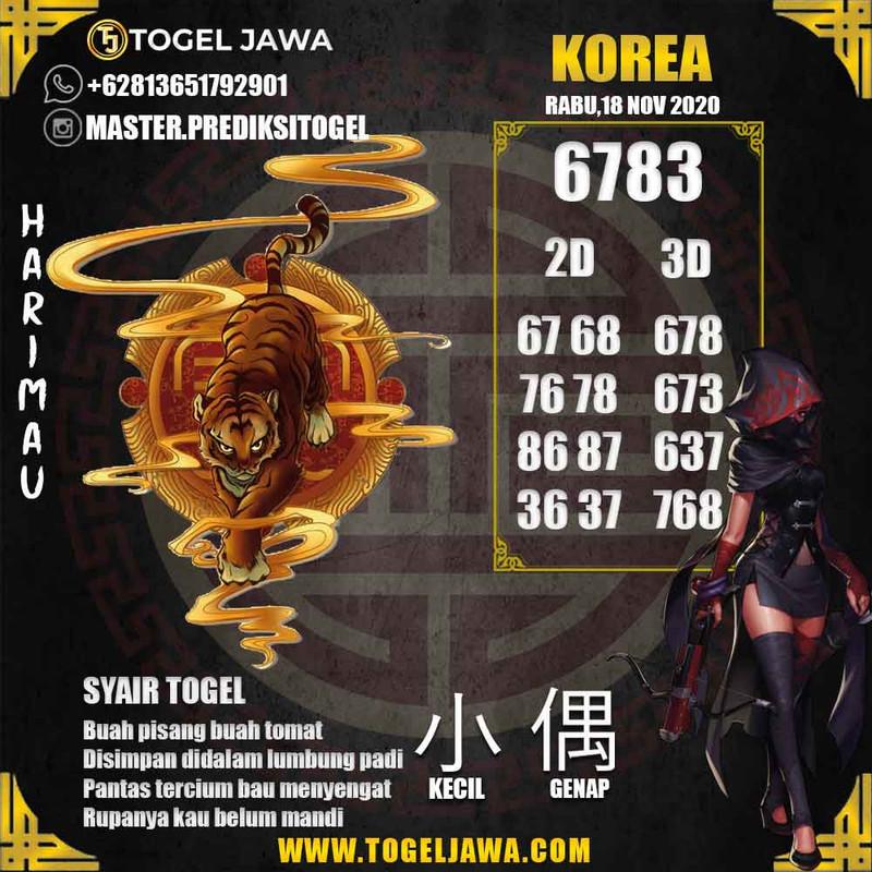 Prediksi Korea Tanggal 2020-11-18