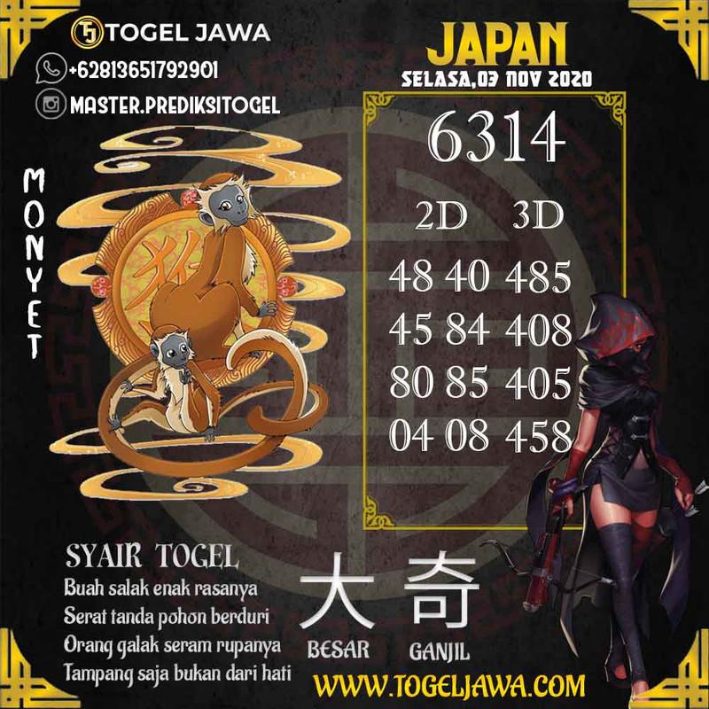 Prediksi Japan Tanggal 2020-11-03
