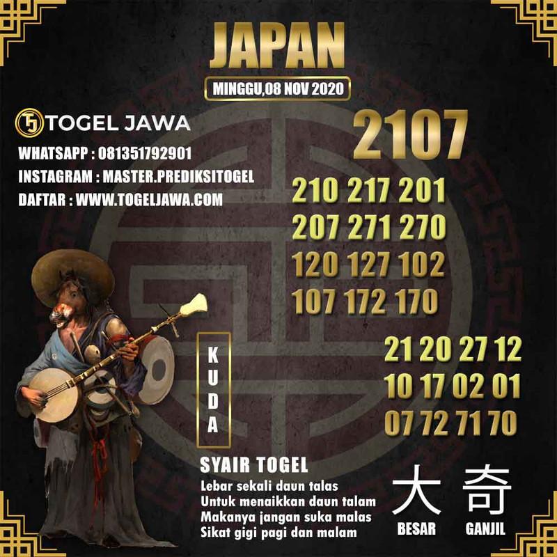 Prediksi Japan Tanggal 2020-11-08
