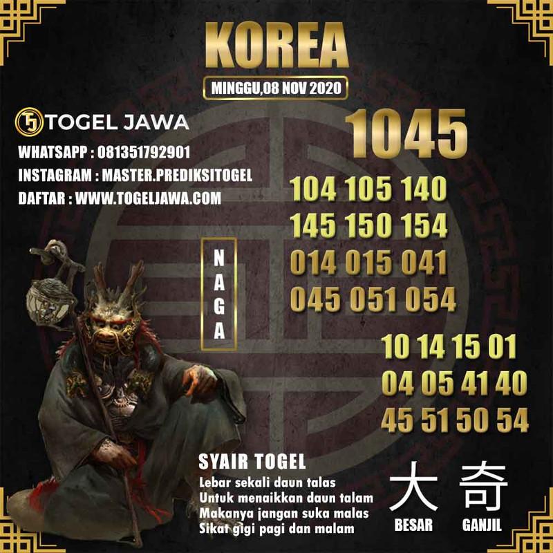 Prediksi Korea Tanggal 2020-11-08