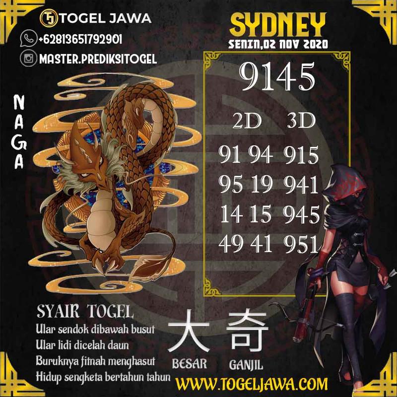 Prediksi Sydney Tanggal 2020-11-02