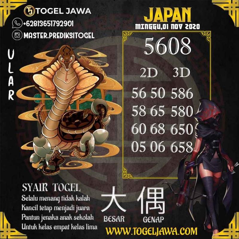 Prediksi Japan Tanggal 2020-11-01