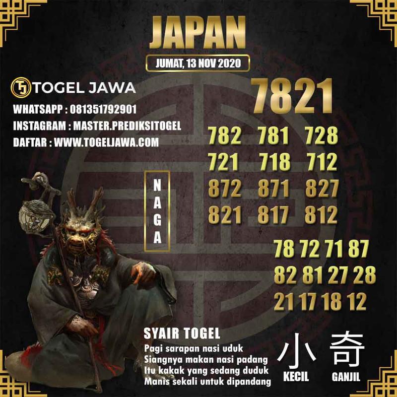 Prediksi Japan Tanggal 2020-11-13
