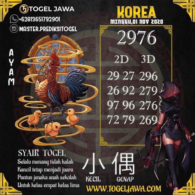 Prediksi Korea Tanggal 2020-11-01