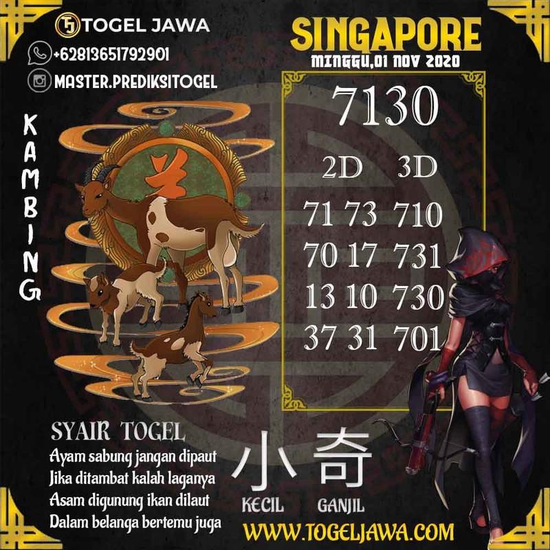 Prediksi Singapore Tanggal 2020-11-01