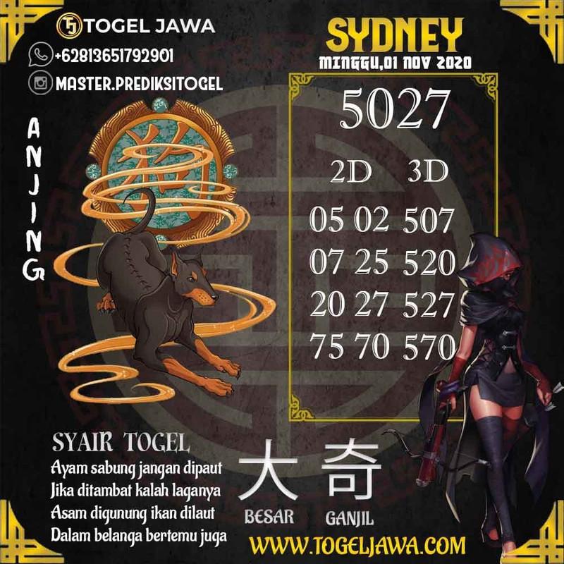 Prediksi Sydney Tanggal 2020-11-01