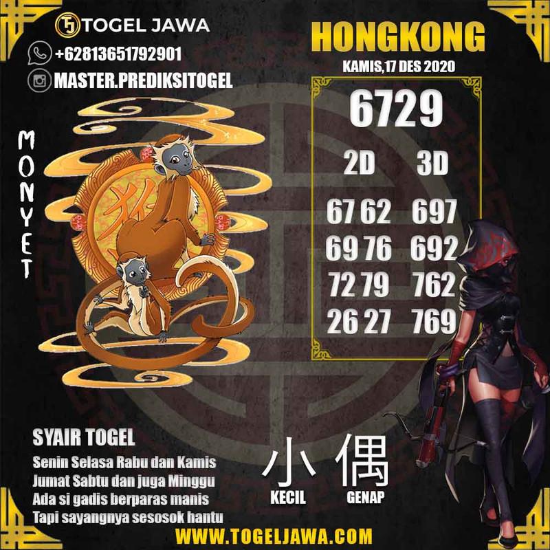Prediksi Jakarta Tanggal 2020-12-17