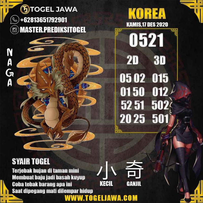 Prediksi Korea Tanggal 2020-12-17