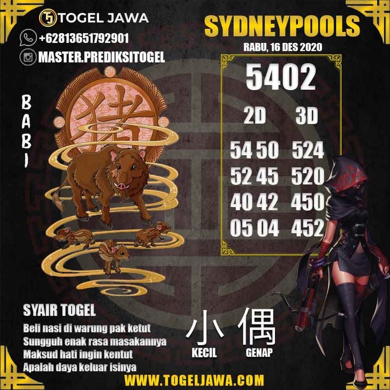 Prediksi Sydney Tanggal 2020-12-16