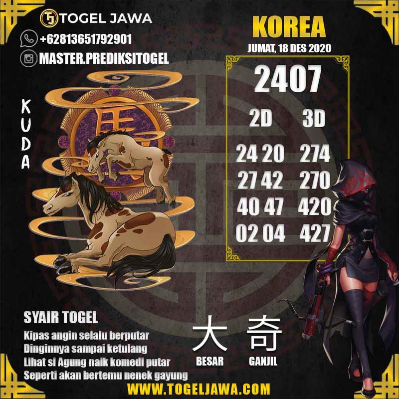 Prediksi Korea Tanggal 2020-12-18