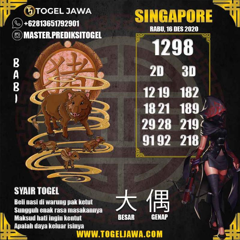 Prediksi Singapore Tanggal 2020-12-16