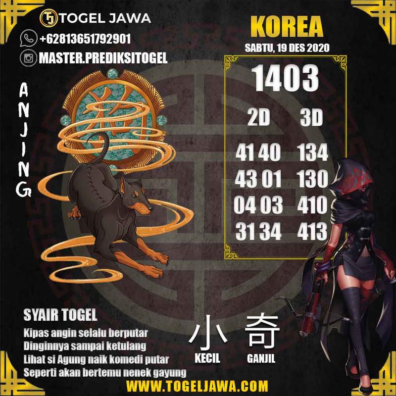 Prediksi Korea Tanggal 2020-12-19