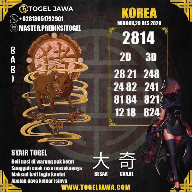 Prediksi Korea Tanggal 2020-12-20