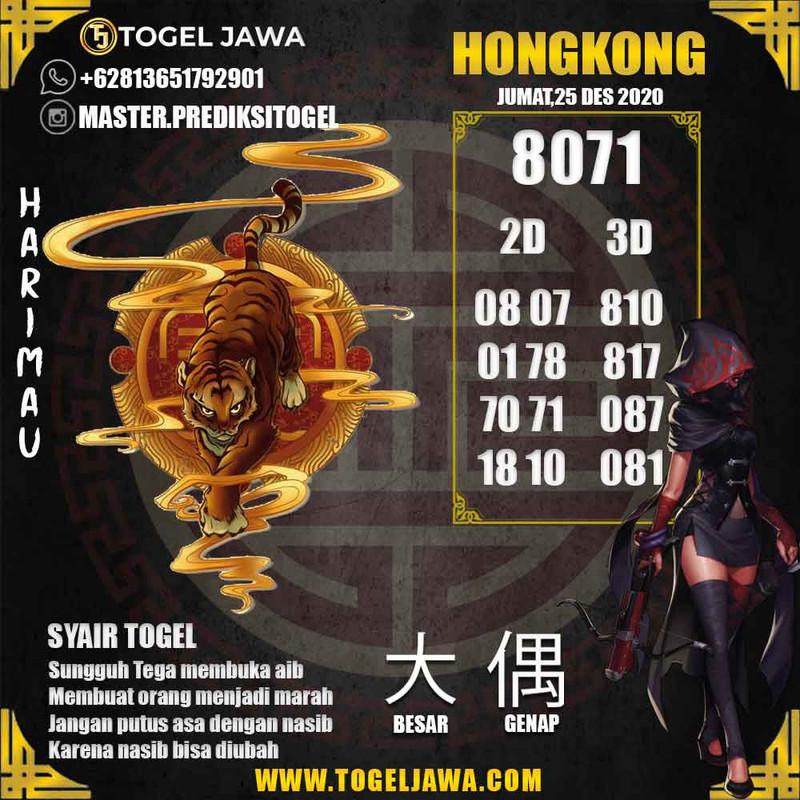 Prediksi Hongkong Tanggal 2020-12-25