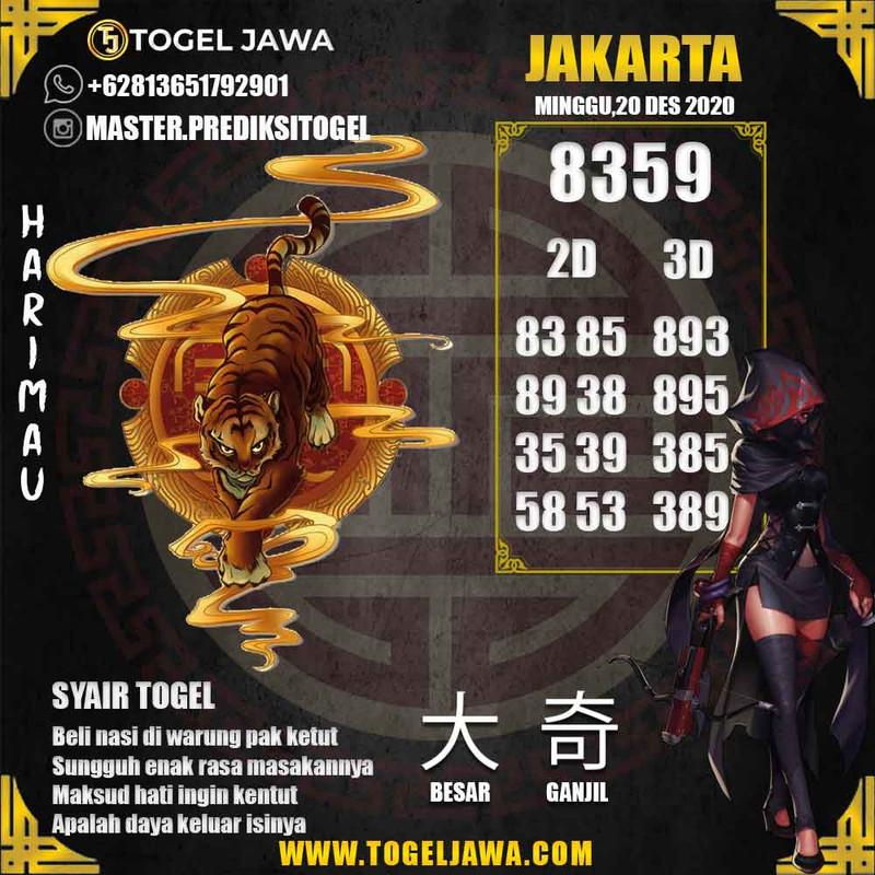 Prediksi Jakarta Tanggal 2020-12-20