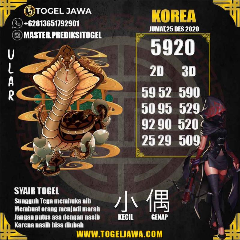 Prediksi Korea Tanggal 2020-12-25