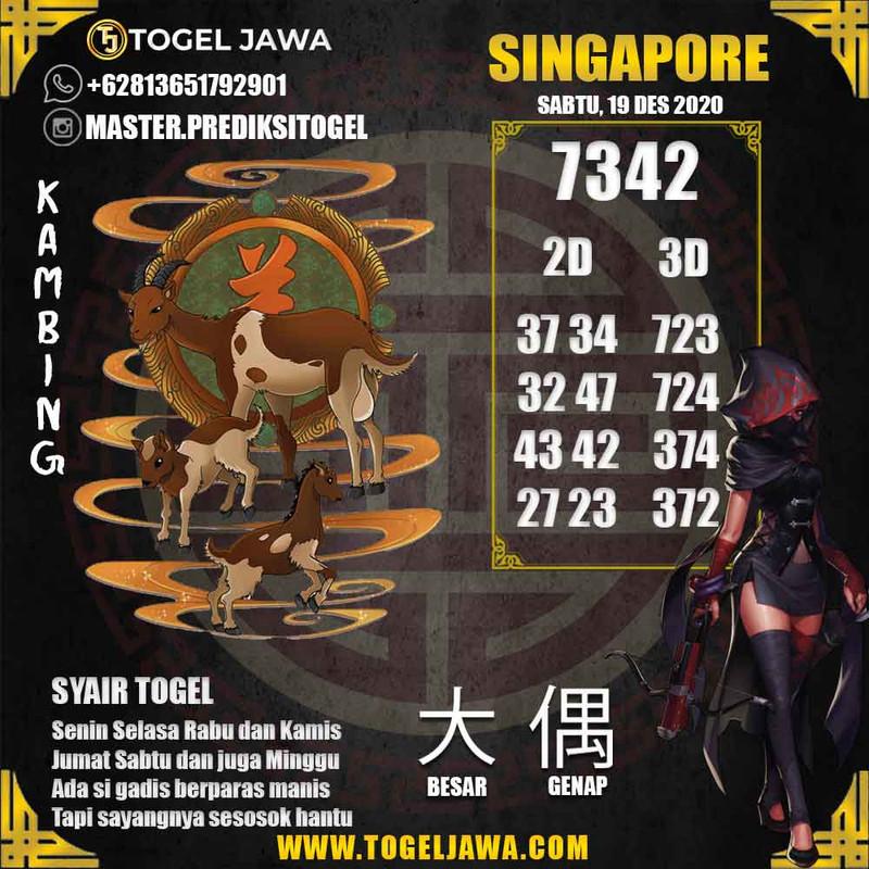 Prediksi Singapore Tanggal 2020-12-19