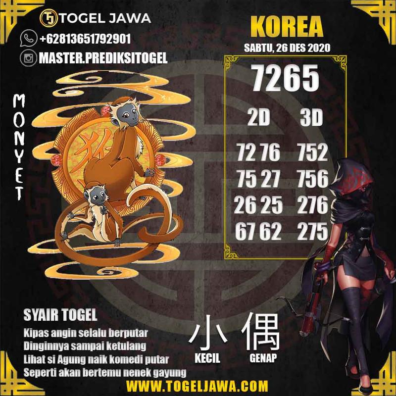 Prediksi Korea Tanggal 2020-12-26