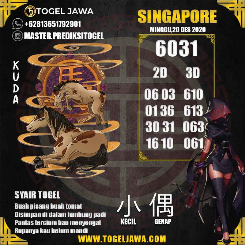 Prediksi Singapore Tanggal 2020-12-20
