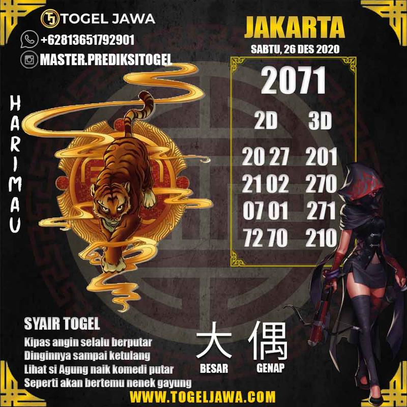 Prediksi Jakarta Tanggal 2020-12-26
