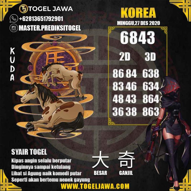 Prediksi Korea Tanggal 2020-12-27