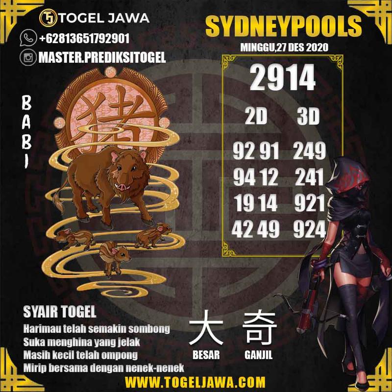 Prediksi Sydney Tanggal 2020-12-27