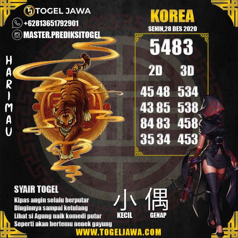 Prediksi Korea Tanggal 2020-12-28