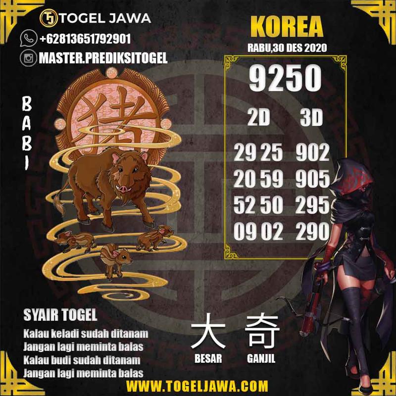 Prediksi Korea Tanggal 2020-12-30