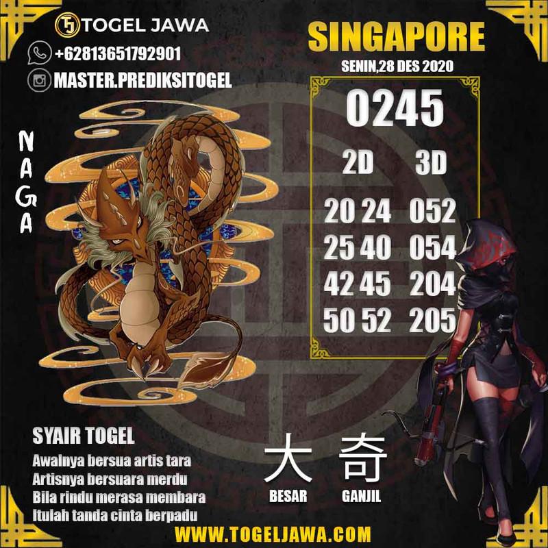 Prediksi Singapore Tanggal 2020-12-28