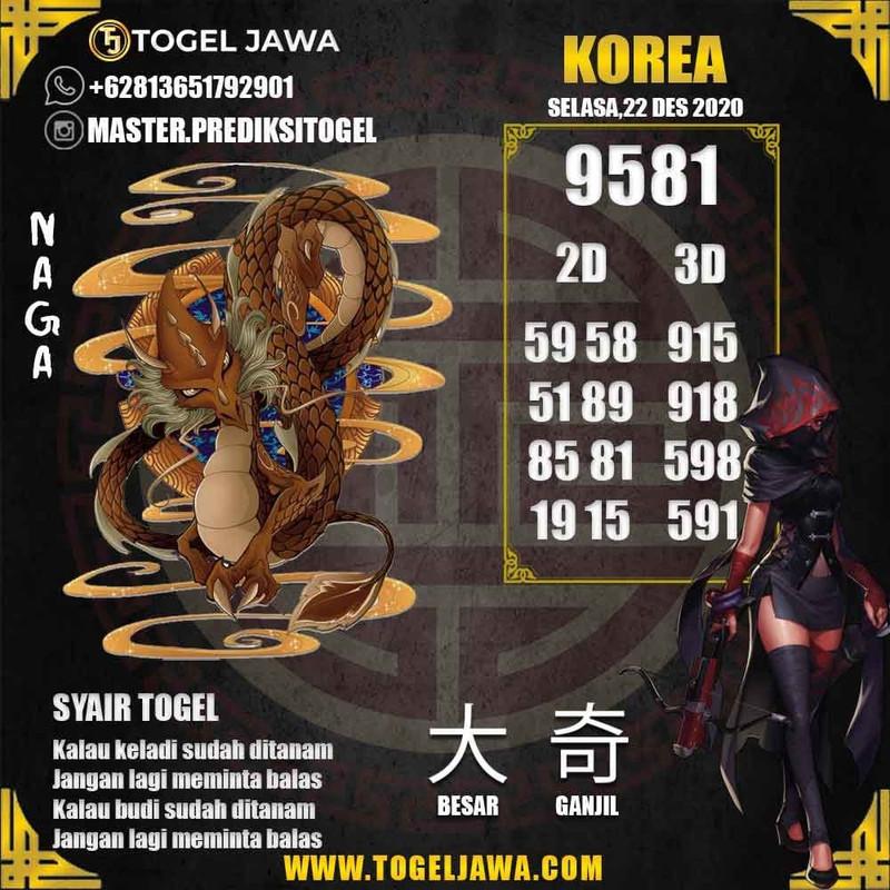 Prediksi Korea Tanggal 2020-12-22