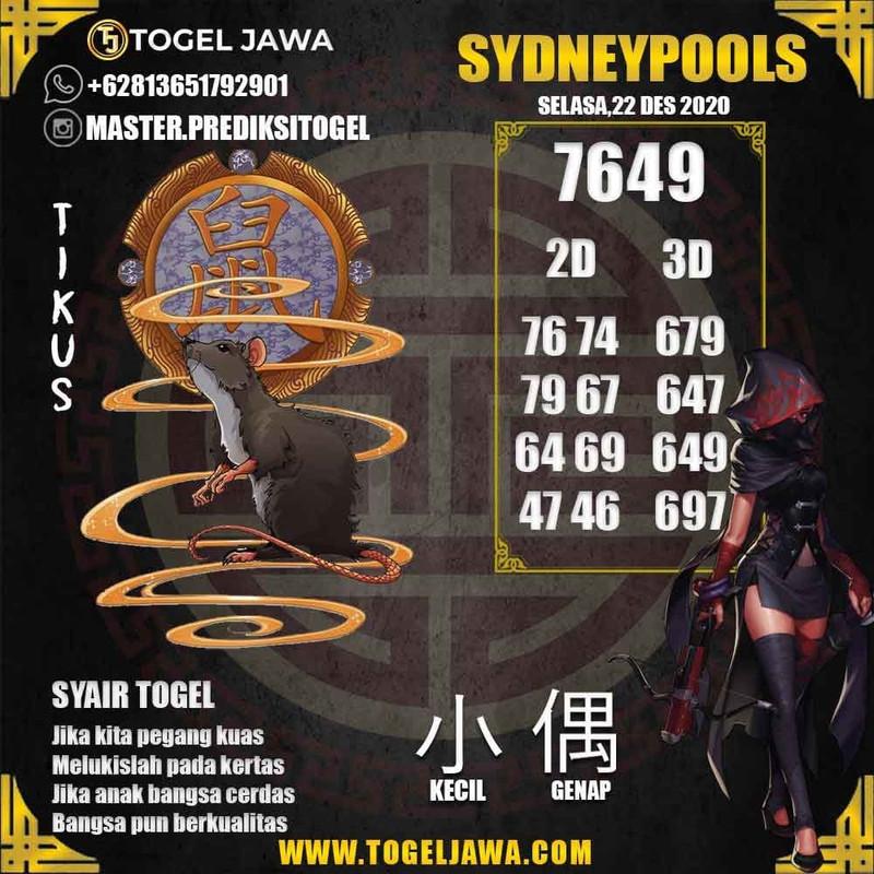 Prediksi Sydney Tanggal 2020-12-22