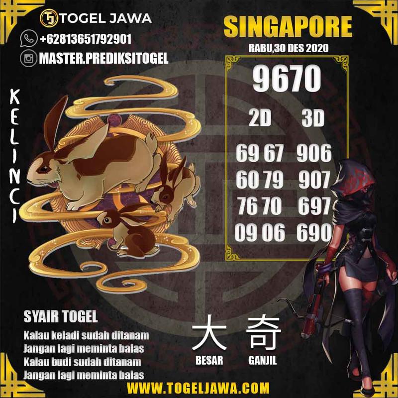 Prediksi Singapore Tanggal 2020-12-30