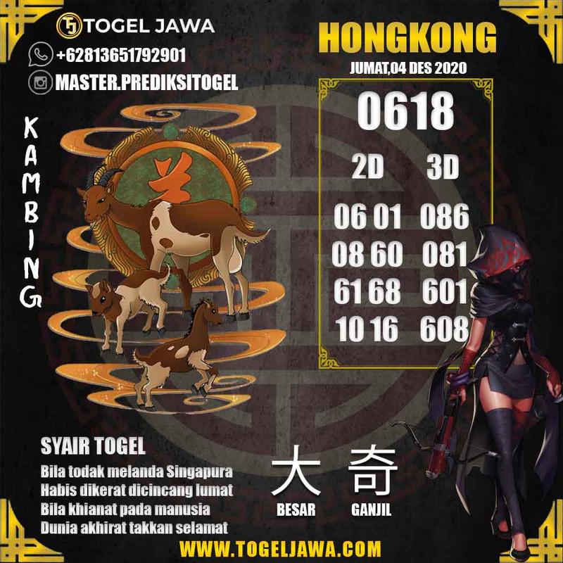 Prediksi Hongkong Tanggal 2020-12-04